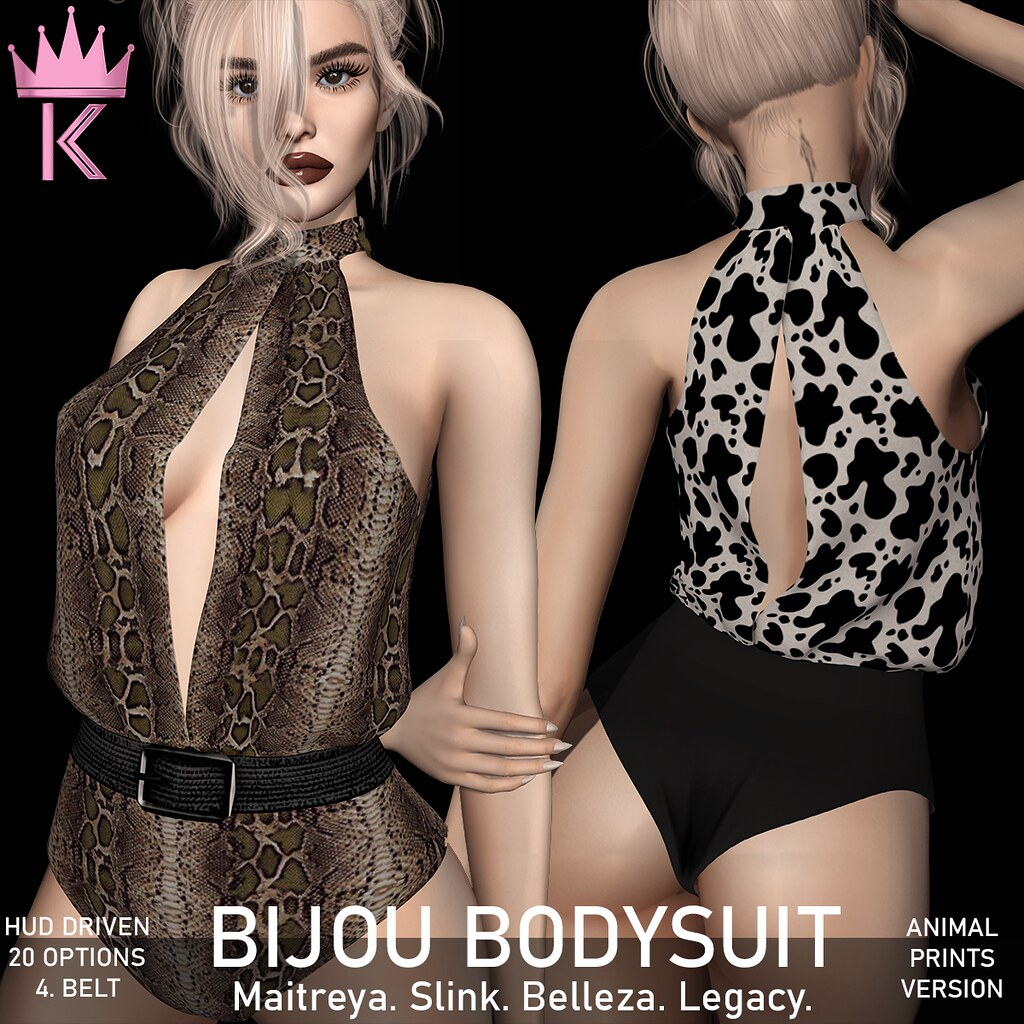 .KIMBRA. – BIJOU BODYSUIT [ANIMAL PRINTS]