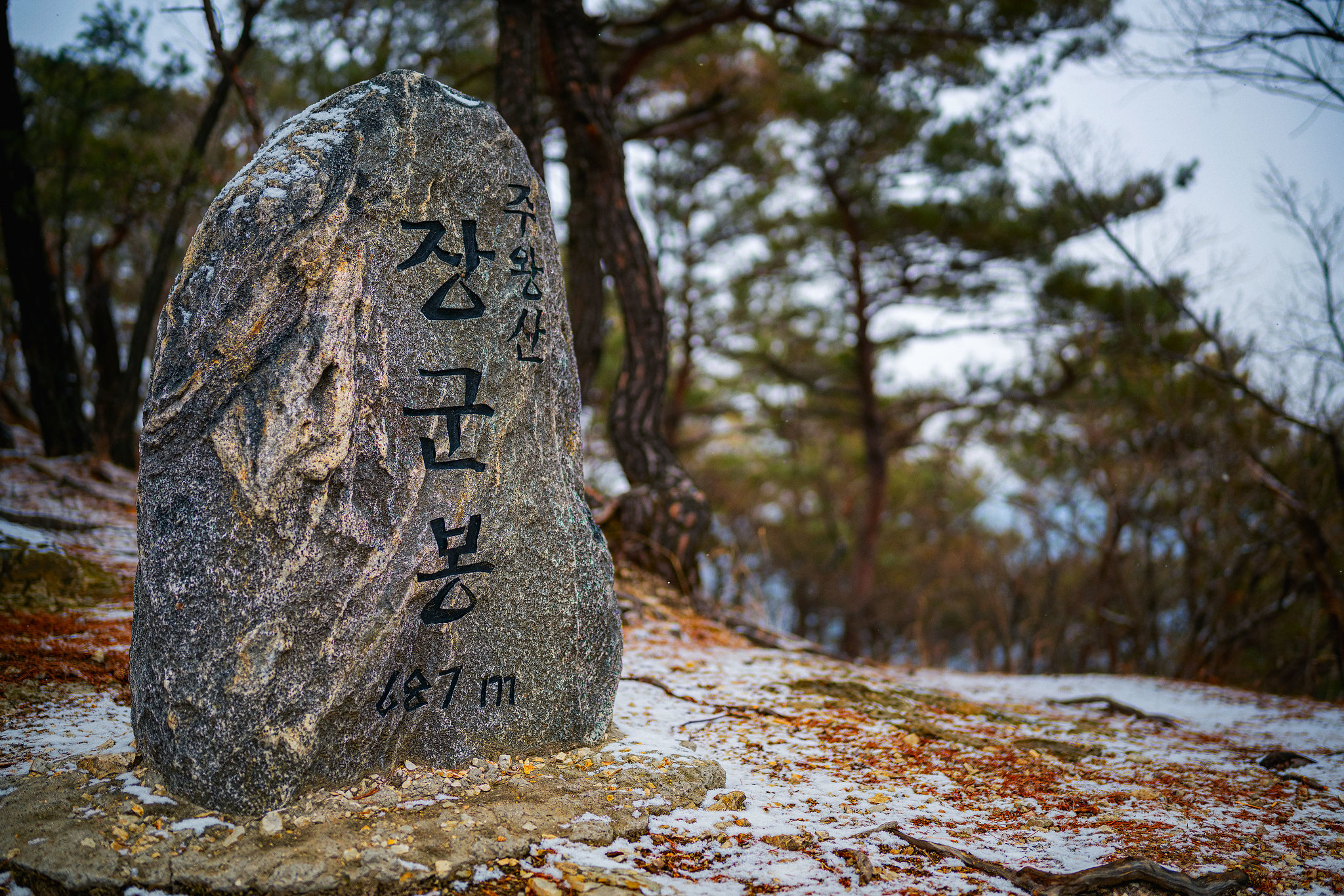 Janggunbong Summit Stone