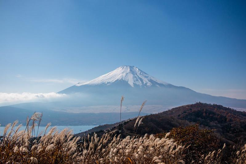 石割山から見える富士山