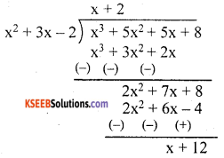 KSEEB Solutions for Class 10 Maths Chapter 9 Polynomials Additional Questions 5