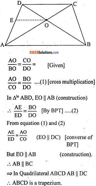 KSEEB Solutions for Class 10 Maths Chapter 2 Triangles Additional Questions 16