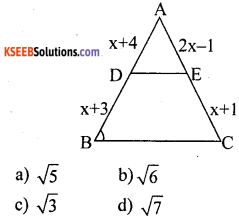 KSEEB Solutions for Class 10 Maths Chapter 2 Triangles Additional Questions 5