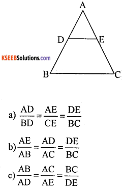 KSEEB Solutions for Class 10 Maths Chapter 2 Triangles Additional Questions 2