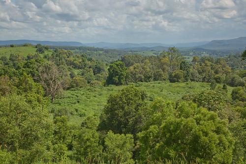 australia queensland blackmountain hinterland rainforest mountains landscape view scenic trees green clouds breathtakinglandscapes