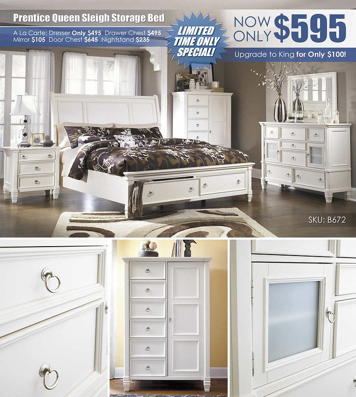 Prentice Queen Storage Bed Clearance_B672