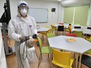 Instituts-Desinfektion als Vorbeugung