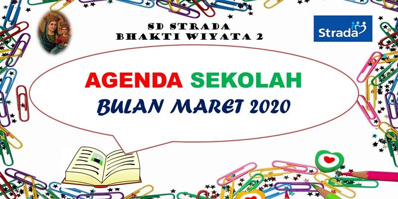 Agenda Sekolah Bulan Maret 2020