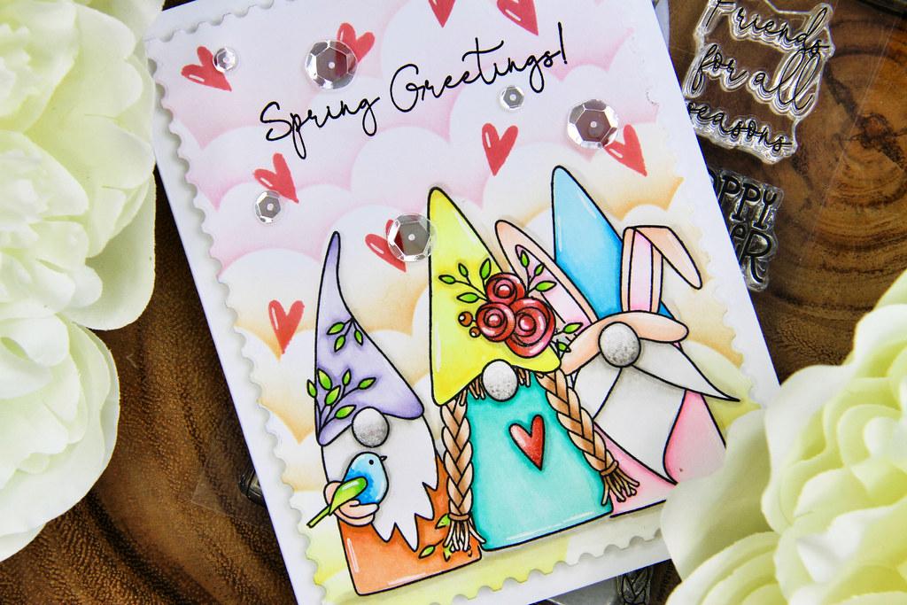 Spring Greetings card closeup