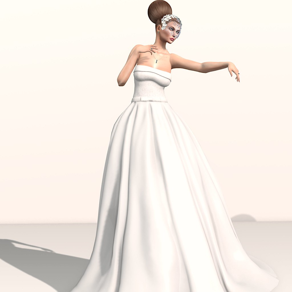 Eleanor Bride Gown + Trilogy Rainbow Crystals jewels – Fashion Dream