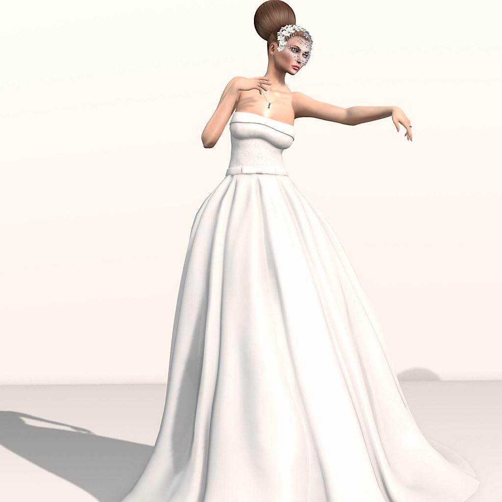 Eleanor Bride Gown + Trilogy Rainbow Crystals jewels - Fashion Dream