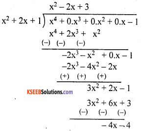 KSEEB Solutions for Class 10 Maths Chapter 9 Polynomials Additional Questions 6