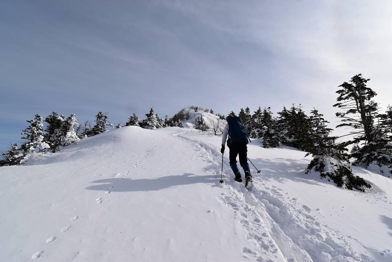 冬の四阿山 日帰り雪山登山