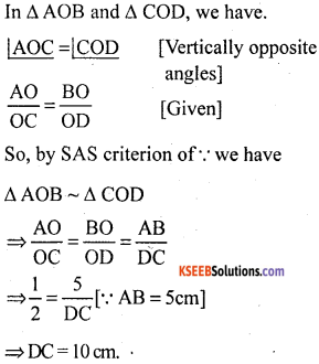 KSEEB Solutions for Class 10 Maths Chapter 2 Triangles Additional Questions 13