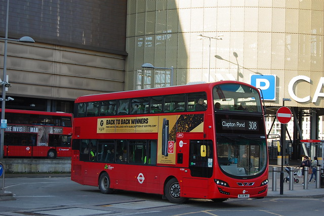 Tower Transit VH38111, BL64MHX on 308- Stratford City Bus Station
