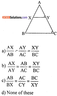 KSEEB Solutions for Class 10 Maths Chapter 2 Triangles Additional Questions 1