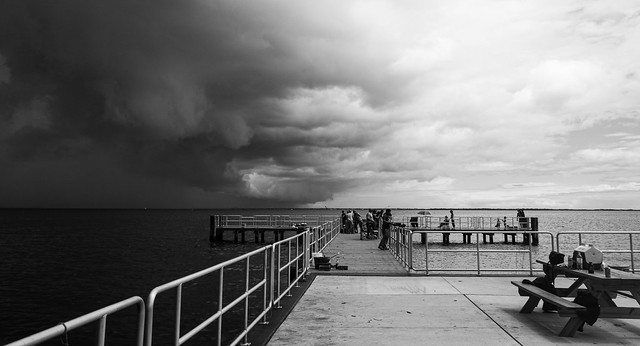 A Storm Approaches The Pier
