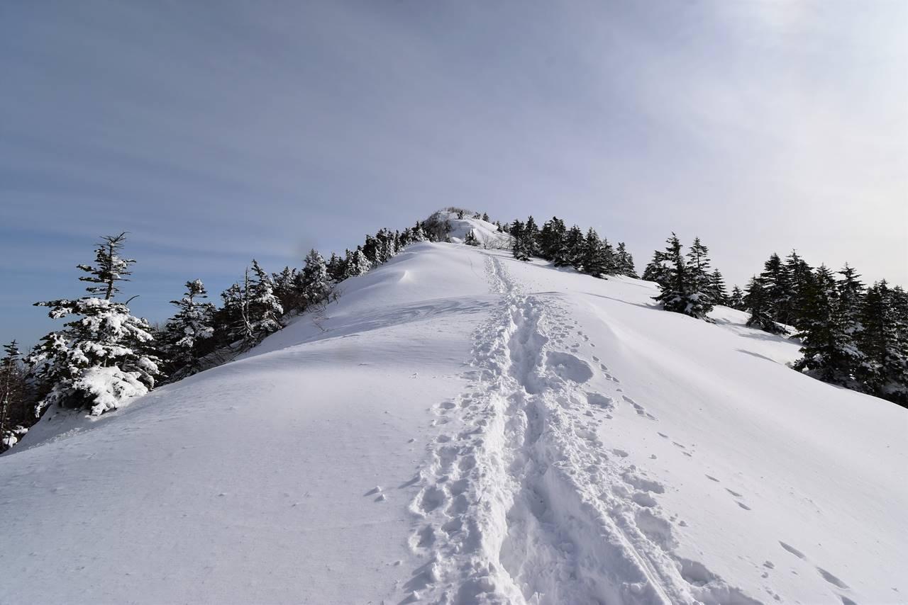 四阿山山頂へと続くビクトリーロード