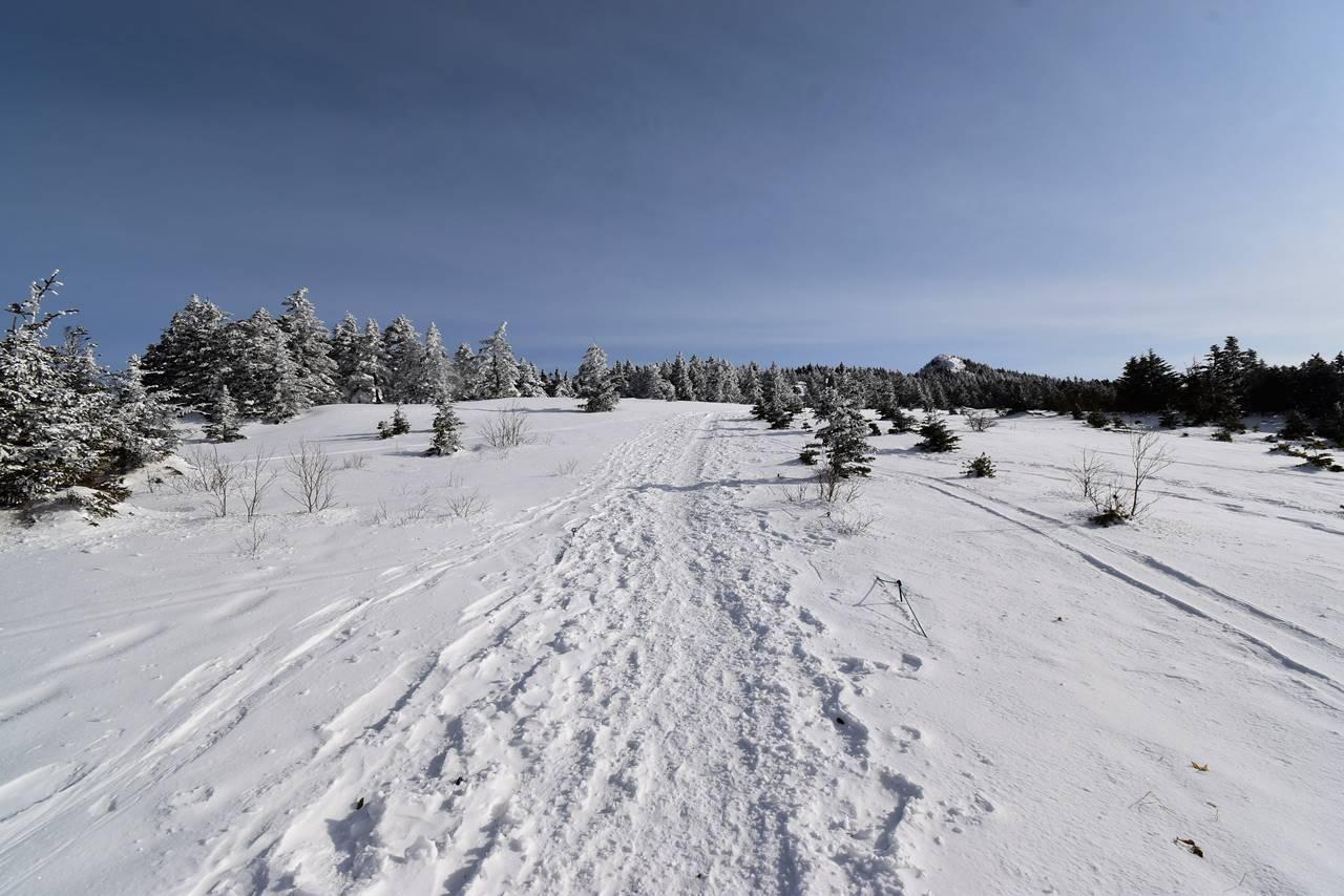 冬の四阿山 雪山登山(あずまや高原ホテルルート)