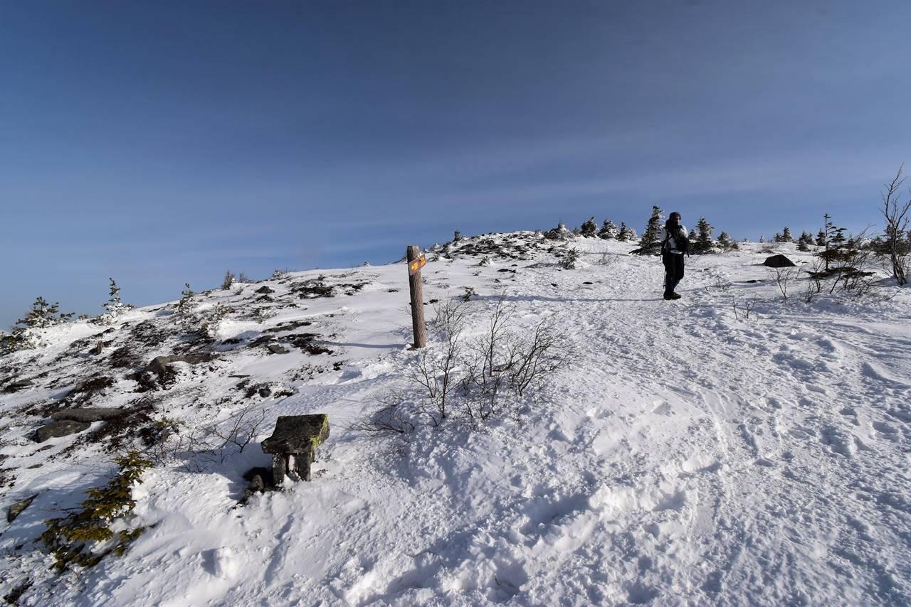 冬の四阿山 菅平牧場コース分岐
