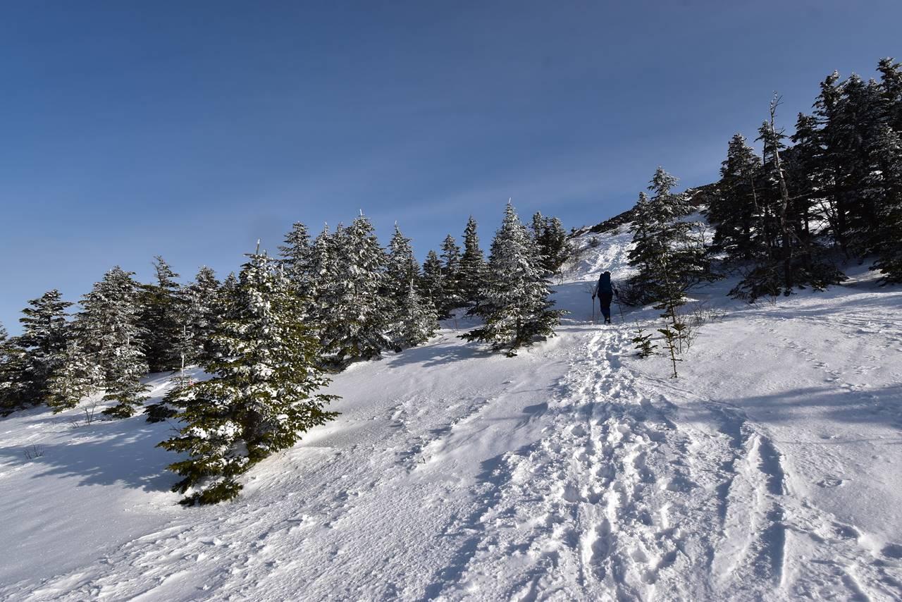 冬の四阿山 雪山登山