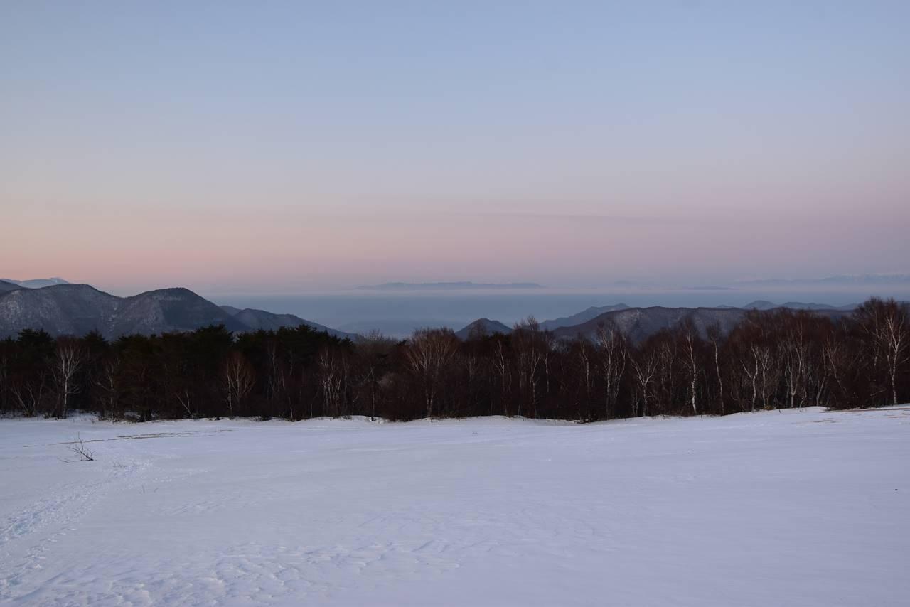 四阿山から眺める美ヶ原