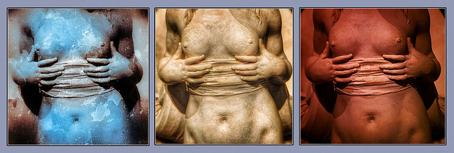 Veiled Ancient Midriff Triptych