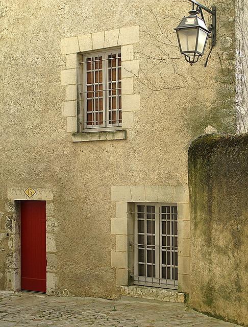 Red door: Blois, France