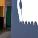 Composición de sombras y puertas de garage