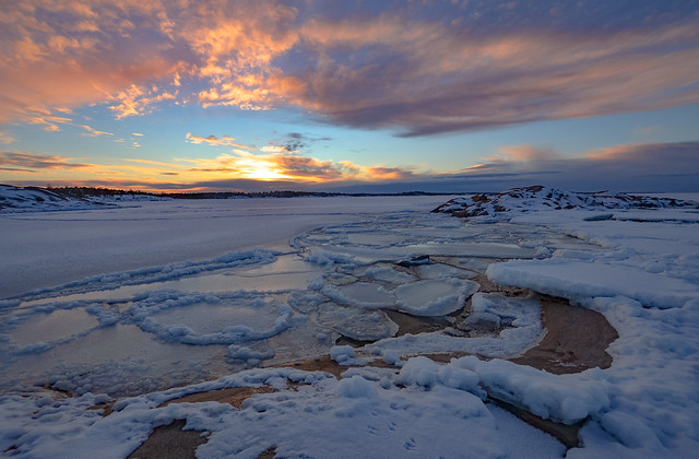 Winter seaside