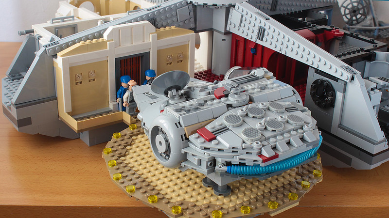 Millennium Falcon in the style of the Slave I from Betrayat Cloud City 75222 set