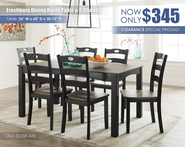 Froshburg Dining Table & 6 Chairs_D338-425