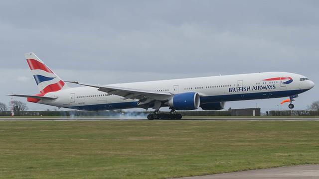 G-STBF - British Airways 77W @ Cardiff Airport 07/03/20