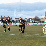 Huntly celebrate going 2-1 ahead