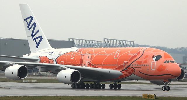 ANA All Nippon Airways, F-WWAL, Reg. JA383A, MSN 266, Airbus A 380-841, 06.03.2020,  XFW-EDHI, Hamburg Finkenwerder