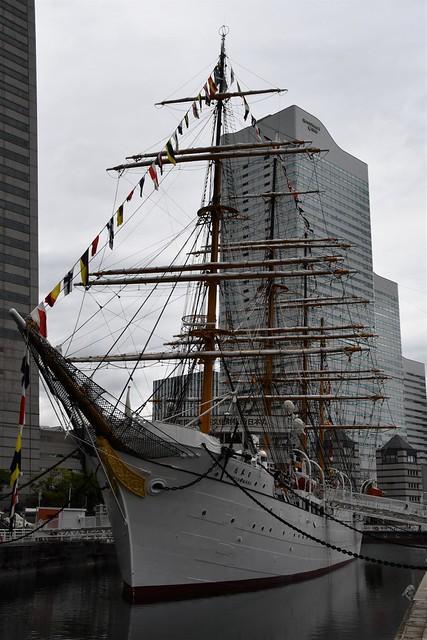 Sail training ship Nippon Maru, Yokohama, Japan