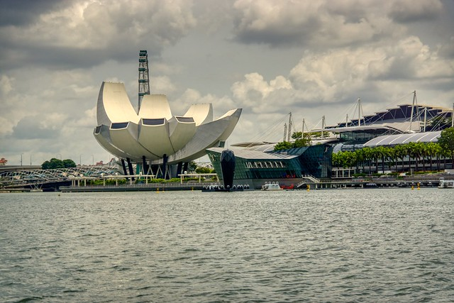 Arts and Science museum by the Marina Bay in Singapore