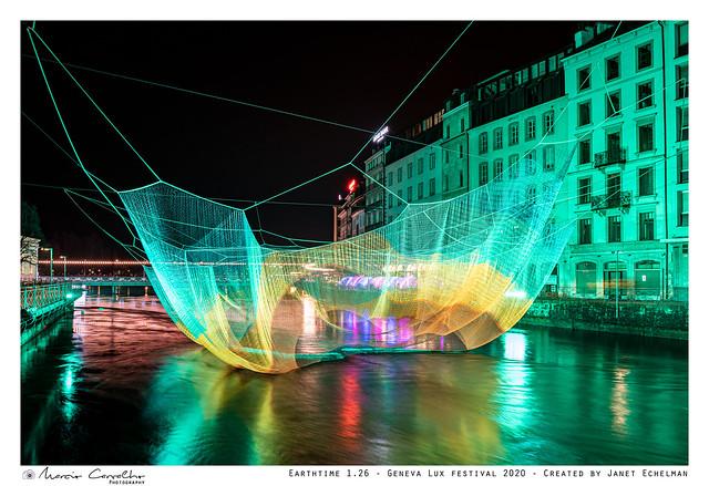 Earthtime 1.26 - Geneva Lux festival 2020 - Created by Janet Echelman - D85_4745