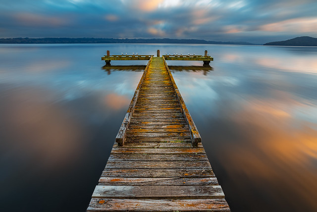 Sunrise Reflection at Double sided Jetty