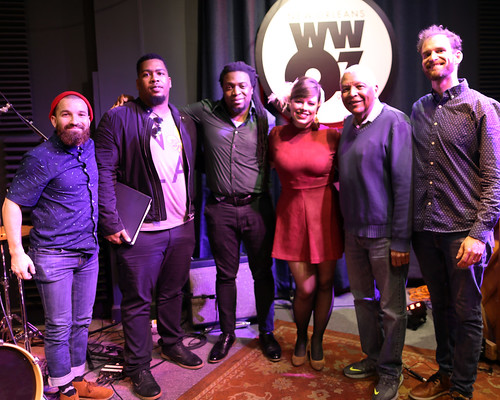 Meghan Stewart and her band at WWOZ - March 6, 2020. Photo by Bill Sasser.