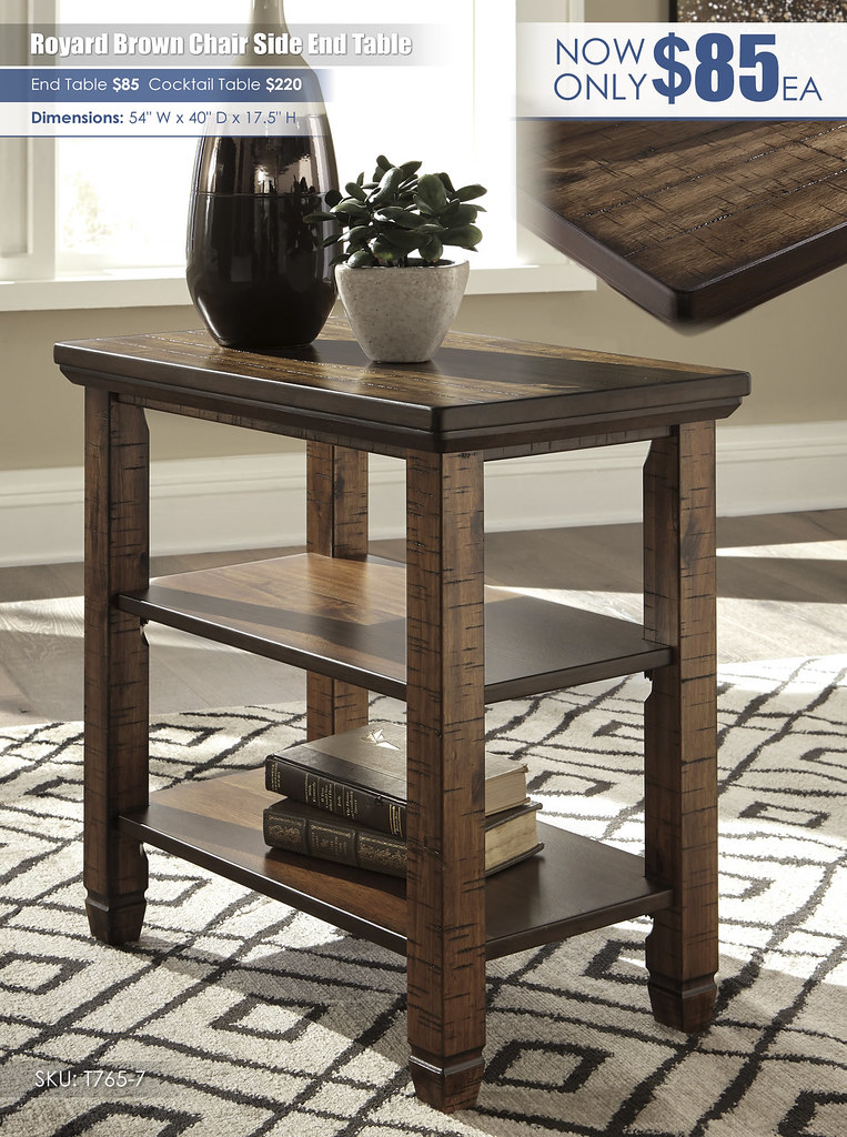 Royard Brown Chair Side End Table_T765-7