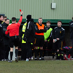 Substitute Goalkeeper John Farquhar is deemed to have committed violent conduct as Huntly pick up a fourth red card