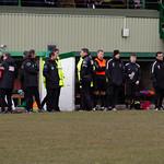 Huntly Assistant Manager Richard Cheyne is sent off for confronting Lewis MacKinnon