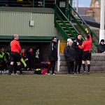 Huntly Manager Martin Skinner is the first of eight cards within 15 minutes after a caution for dissent