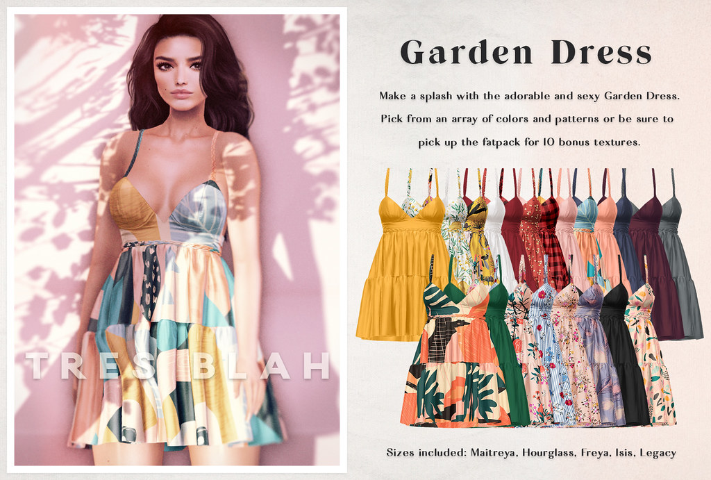 Tres Blah – Garden Dress March 2020