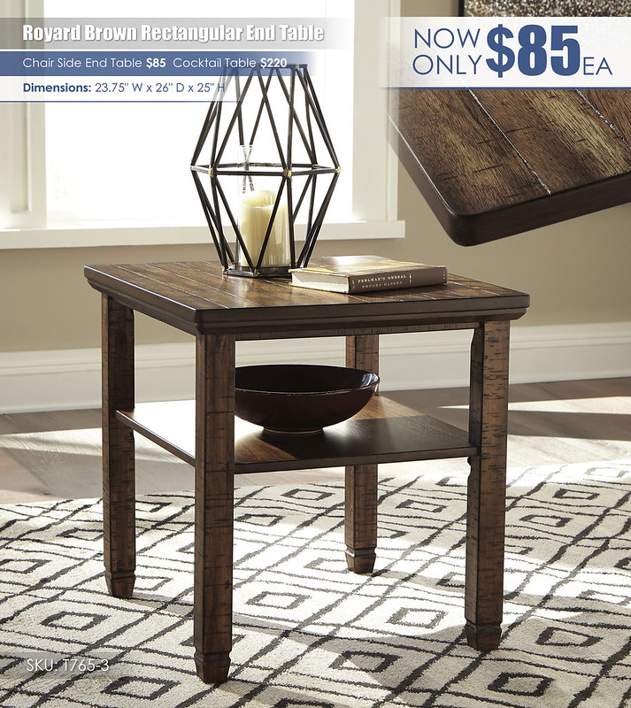 Royard Brown End Table_T765-3