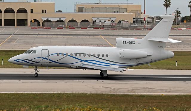 ZS-DEX LMML 07-03-2020 Private Dassault Falcon 900EX CN 65