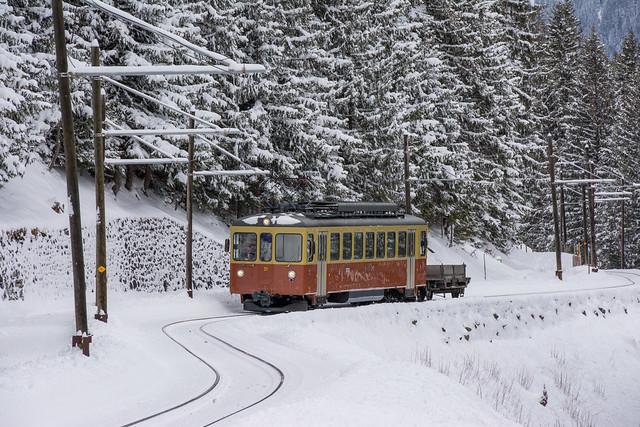 Bergbahn Lauterbrunnen-Mürren.