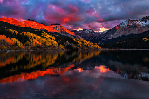 colorado lake telluride travelcolorado outdoorrecreation outdoors rockymountains sanjuanmountains autumn troutlake lizardheadpass ophir clouds weather sunset