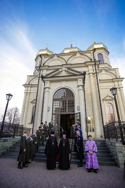 07 марта 2020, В канун Недели Торжества Православия правящий архиерей совершил всенощное бдение в Казанском соборе