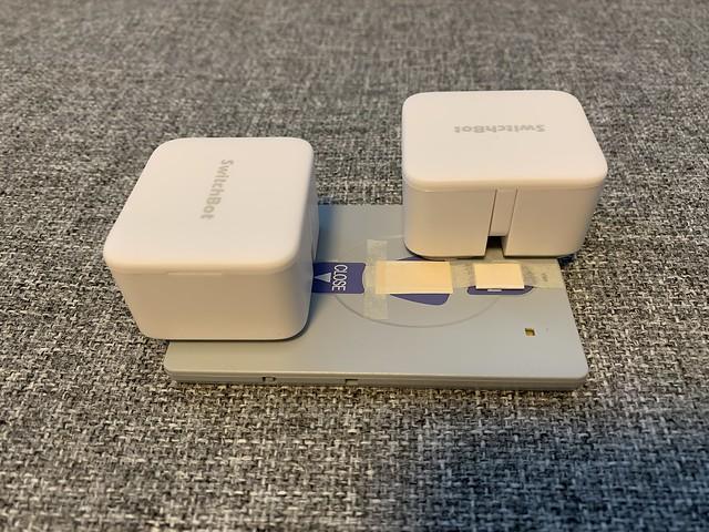 文化シャッターリモコン + SwitchBot x2